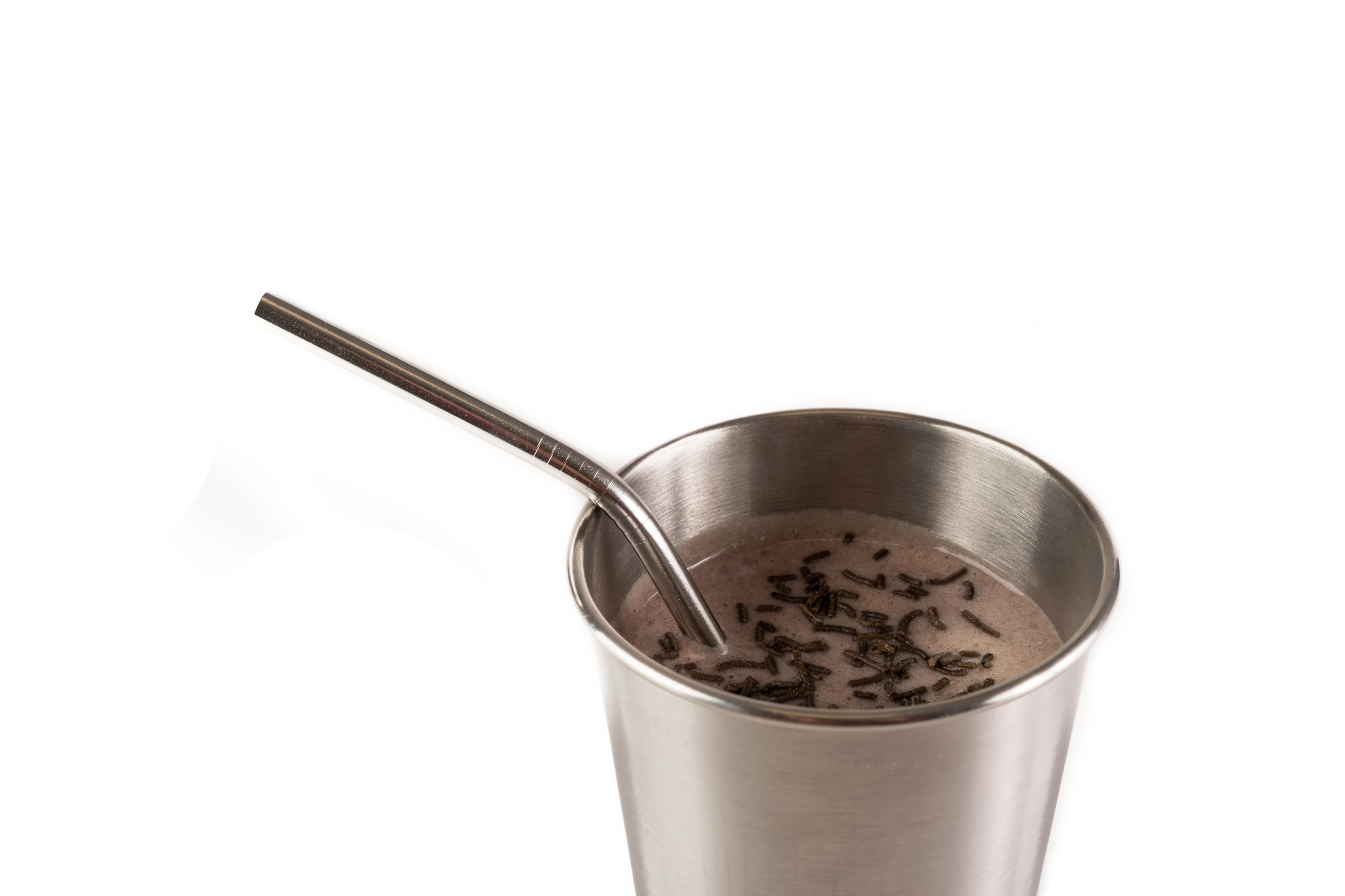 stainless steel cup & straw